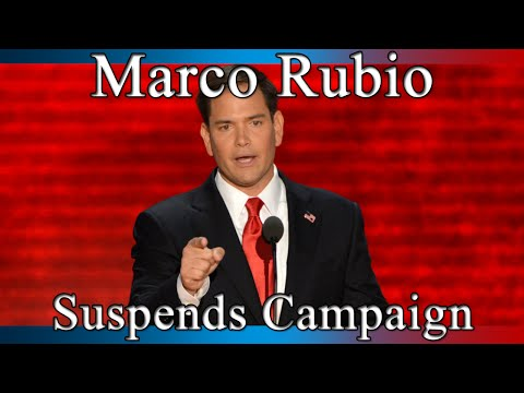 Marco Rubio Suspends his Presidential Campaign - Full Speech - BREAKING NEWS - March 15, 2016