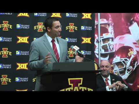CFTV: Matt Campbell introduced as Iowa State's head football
