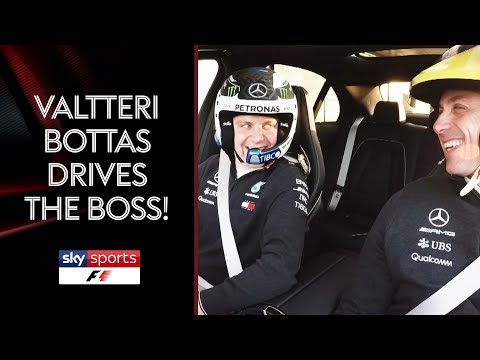 Valtteri Bottas takes Mercedes boss Toto Wolff for a drive 🏎️💨