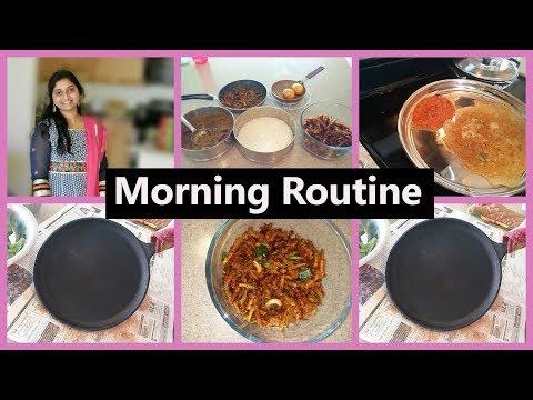 DIML My Morning Routine Vlog | How To clean Non stick Pan/Tawa In Telugu |  Dondakaya Fry