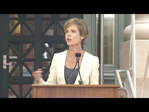 Sally Yates speaks at Harvard Law School's 2017 Class Day Ceremony