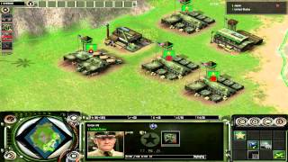 Axis & Allies RTS WWII American Gameplay