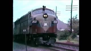 Garrison NY on the Hudson Line. July 11, 1990. FL9s & Turboliner