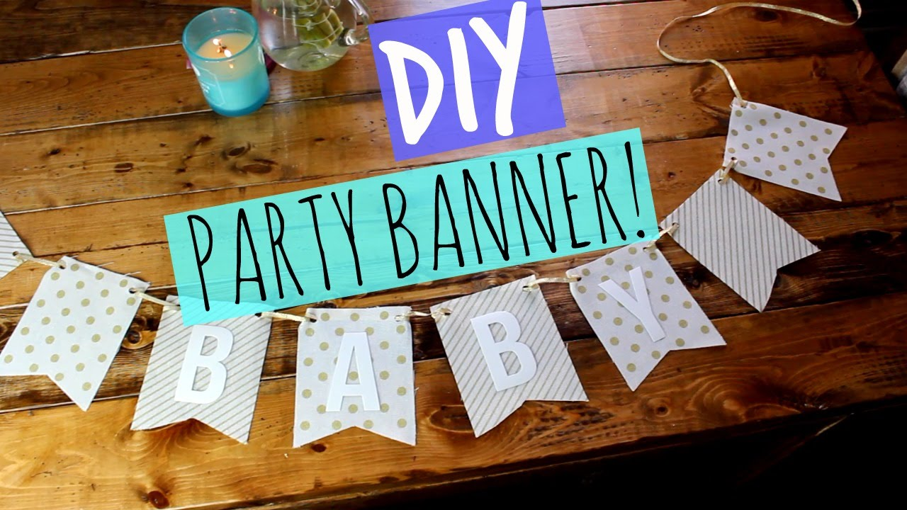 DIY PARTY BANNER YouTube