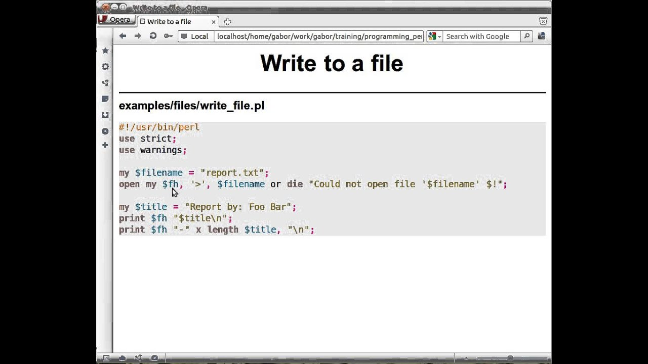 Write a file using perl examples of attention getters in essays