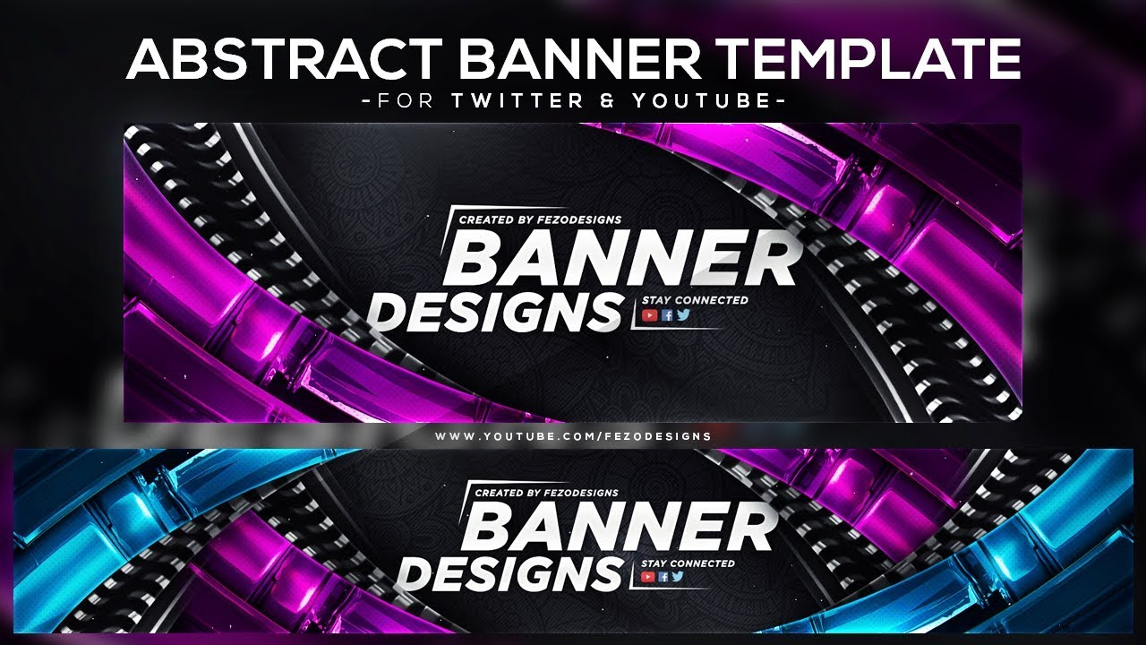 Cool Abstract Banner Template Youtube Twitter