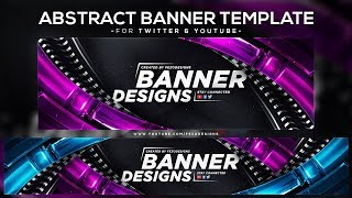 Cool Abstract Banner Template  Youtube & Twitter  - Fezodesigns
