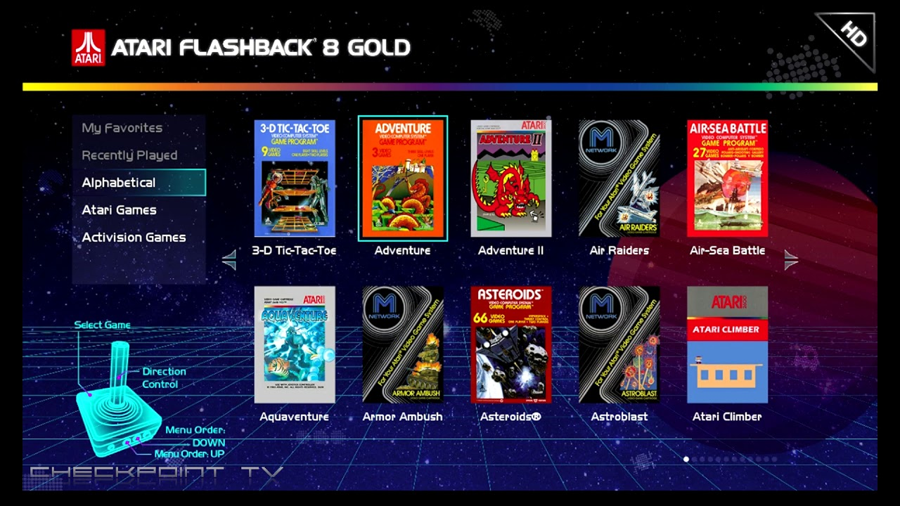 Atari Flashback Gold 8 List Of Games Youtube