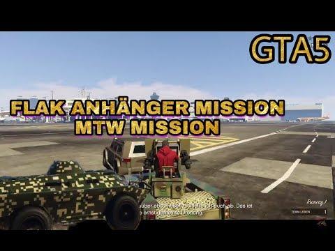 GTA5 GUNRUNNING MISSION FLAK ANHÄNGER & MTW
