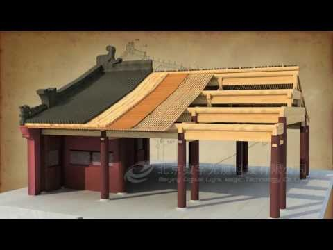 How did a Chinese Traditional house be built (BY 3D max) 中國傳統建築建造過程