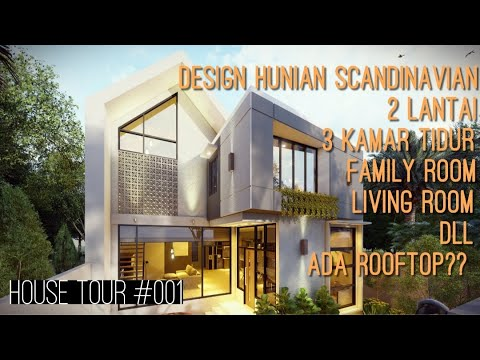 rumah minimalist modern 2 lantai ∣ house tour #001 -