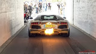Lamborghini Aventador w/ Capristo Carbon Edition Exhaust - HUGE Flames, Revs & Accelerations !