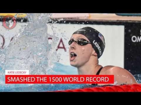 Katie Ledecky Breaks 1500 Free World Record in First Swim as a Pro