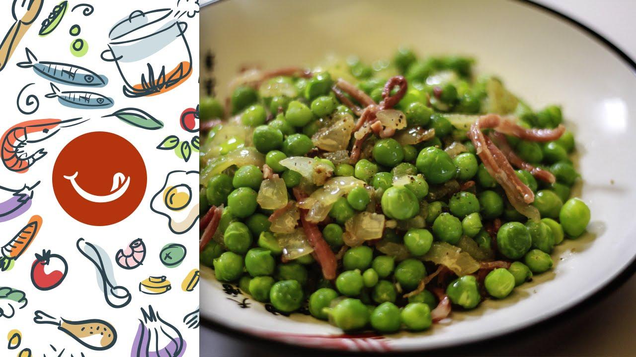 Cocinar Guisantes Frescos | Como Preparar Unos Guisantes Con Jamon Youtube