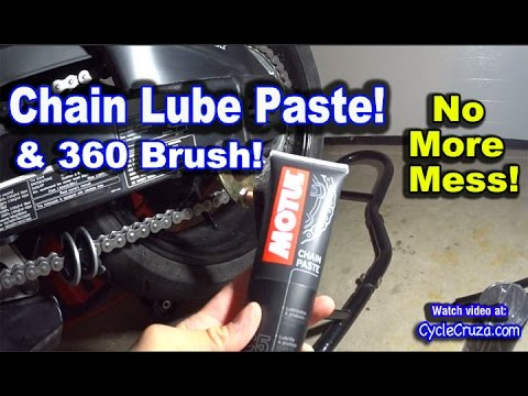Motorcycle Chain Lube Paste - No More Mess!! - WR250r Update