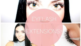 EYELASH EXTENSIONS - My experience and tips || Claire Howell ♡