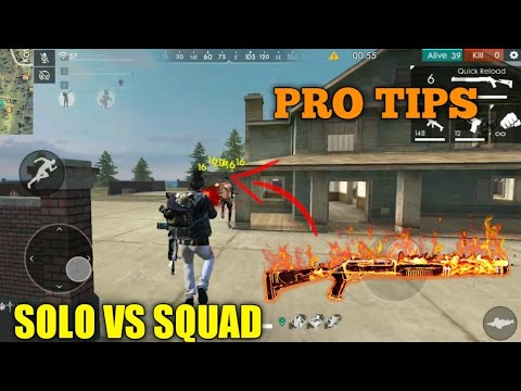 FREE FIRE | HOW TO KILL FULL SQUAD ALONE | PRO TIPS AND TRICKS FREE FIRE