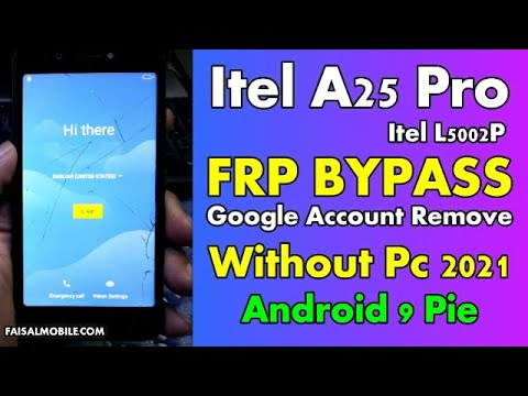 Itel A25 Pro Frp Bypass Without PC  Itel L5002P Google Account Remove