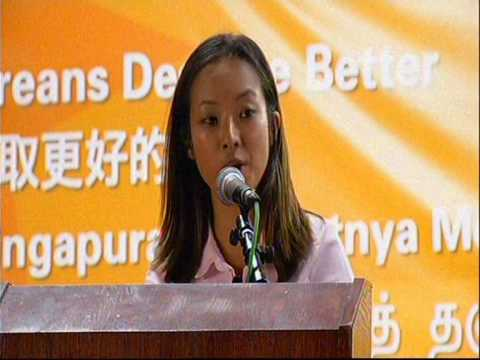 NSP's Kevryn Lim makes maiden rally speech