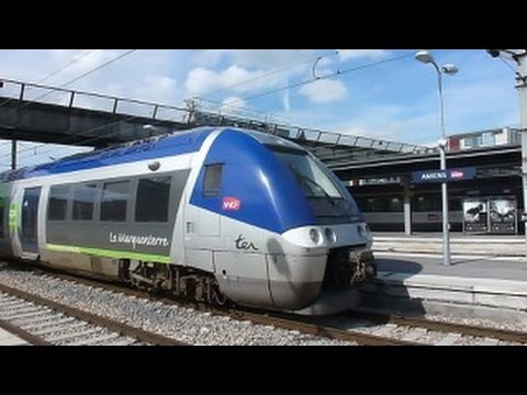Amiens (France) - Train watching at Gare d'Amiens