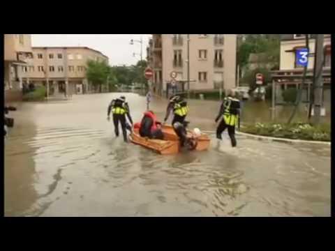 innondations à Longjumeau (Essonne)
