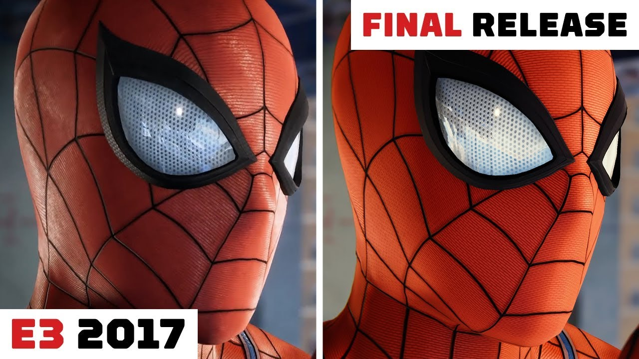 Marvel's Spider-Man (PS4) - E3 2017 vs. Final Release - YouTube