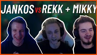 JANKOS AGAINST REKKLES + MIKYX IN SOLOQ | WHO WILL WIN | JANKOS STREAM HIGHLIGHTS