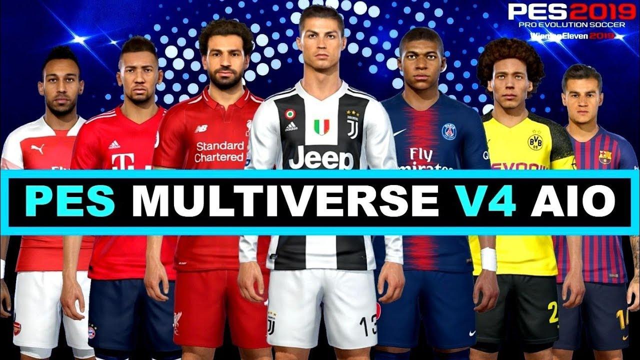 Multiverse V4 0 AIO Option File PES 2019 Download COMPATÍVEL COM PES 2019  VERSÃO CRACK CPY
