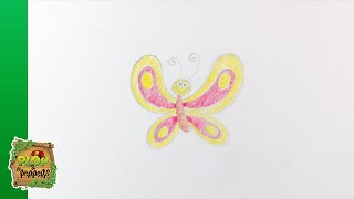 Kijk Tekenen - Vlinder filmpje