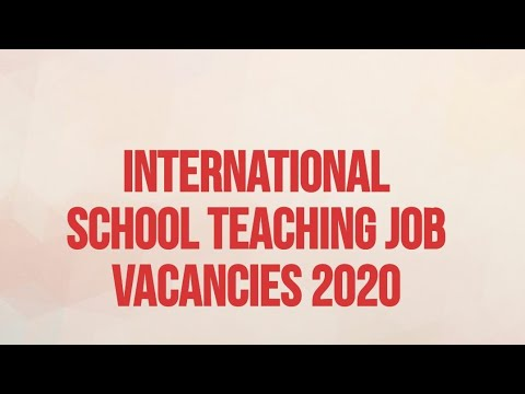 #Overcome Abroad Teaching Job Vacancies In International Schools 2020-21||How To Apply