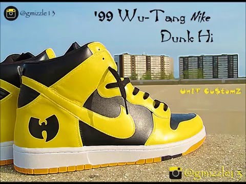 timeless design f417e b3aea How to Paint  99 Wu-Tang Nike Dunk-Hi (Custom Sneakers) Timelapsed Video -  YouTube