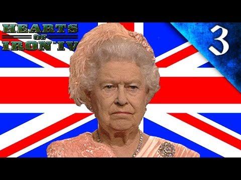 QUEEN ELIZABETH II WAR WITH RUSSIA! Hearts of Iron 4: Modern Day Mod: Challenge: United Kingdom #3