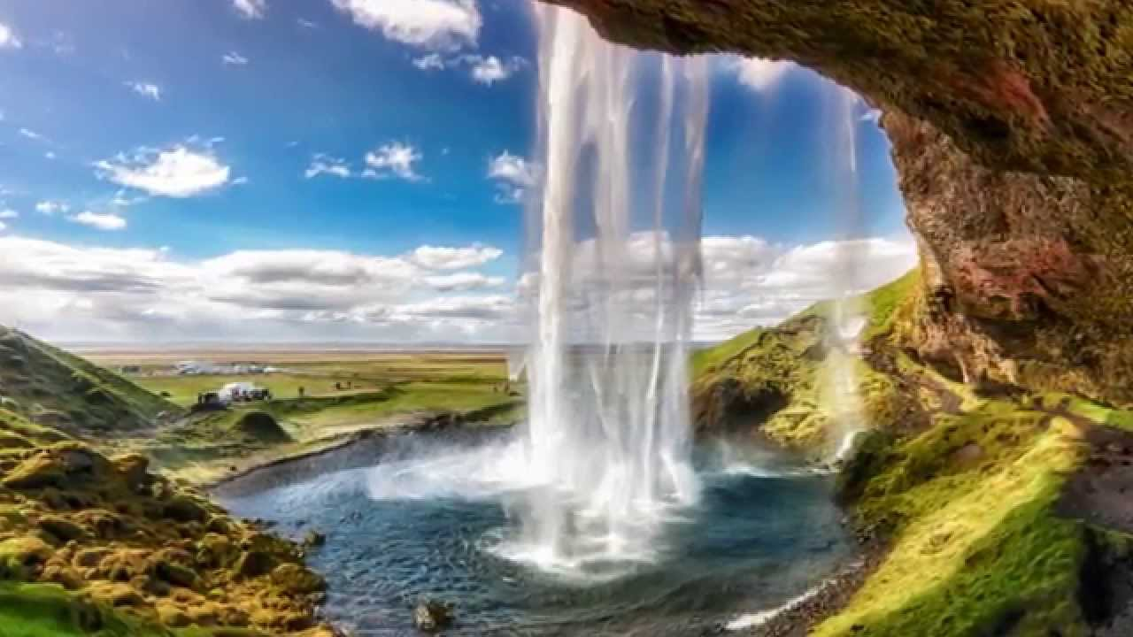 iceland's most beautiful waterfalls - seljalandsfoss hd 1080p - youtube