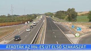 Ma délelőtt adták át a forgalomnak az M4-es gyorsforgalmi út Cegléd és Albertirsa közötti szakaszát