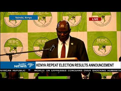 Uhuru Kenyatta wins Kenya's repeat elections by 98.26%
