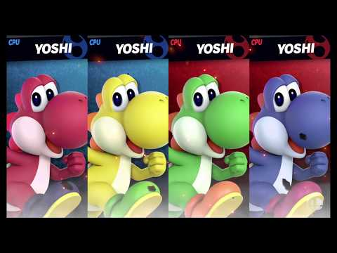 Super Smash Bros Ultimate Amiibo Fights   Request #2620 4 Yoshi Team Battle thumbnail