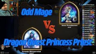 Dragon Quest Princess Priest vs Odd Mage - Hearthstone