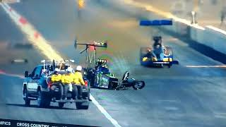 Brittany Force winter Nationals wreck