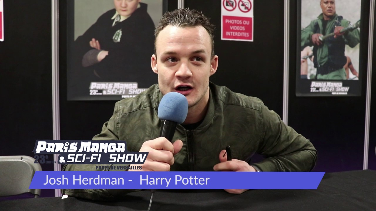 Josh Herdman Harry Potter A Paris Manga Sci Fi Show 23 Youtube Herdman was born in hampton, london. josh herdman harry potter a paris manga sci fi show 23