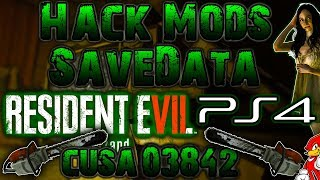 PS4 Hack Mods Save Data Resident Evil 7 PS4 (NO JAILBREAK) - By ReCoB
