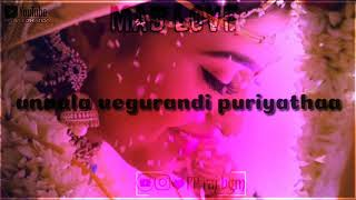 💞Unakkunu vazhurandi theriyatha song💞mad love🎵Tamil love songs⏪tamil what's app status videos⏩