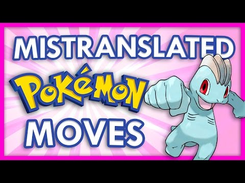 Mistranslated Pokemon Moves