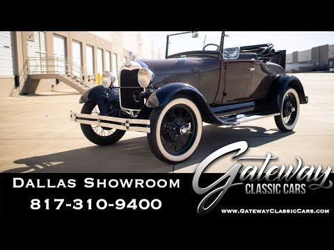 1929 Ford Model A Roadster - #1102-DFW - Gateway Classic Cars