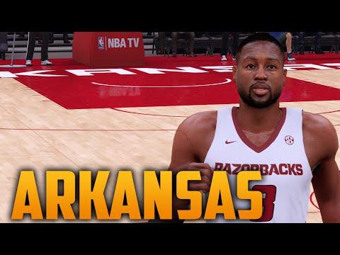 NBA 2K16 Arkansas Razorbacks Court & Jersey Tutorial - YouTube