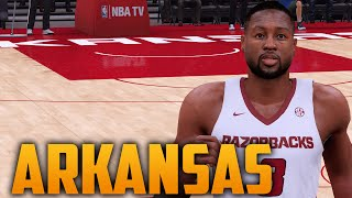 NBA 2K16 Arkansas Razorbacks Court & Jersey Tutorial