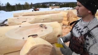 видео Сборка дикого сруба по канадской технологии