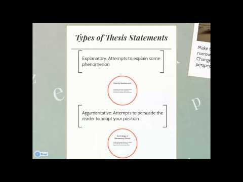 UST Educational Research - Writing a Thesis Statement