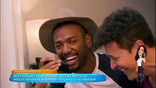 Nego do Borel e Rodrigo Faro passam trotes em Anitta, Simaria e Wesley Safadão