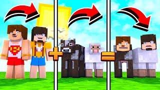 KOYUN OLUP SAKLANMAK - Minecraft Hayvan Saklambacı
