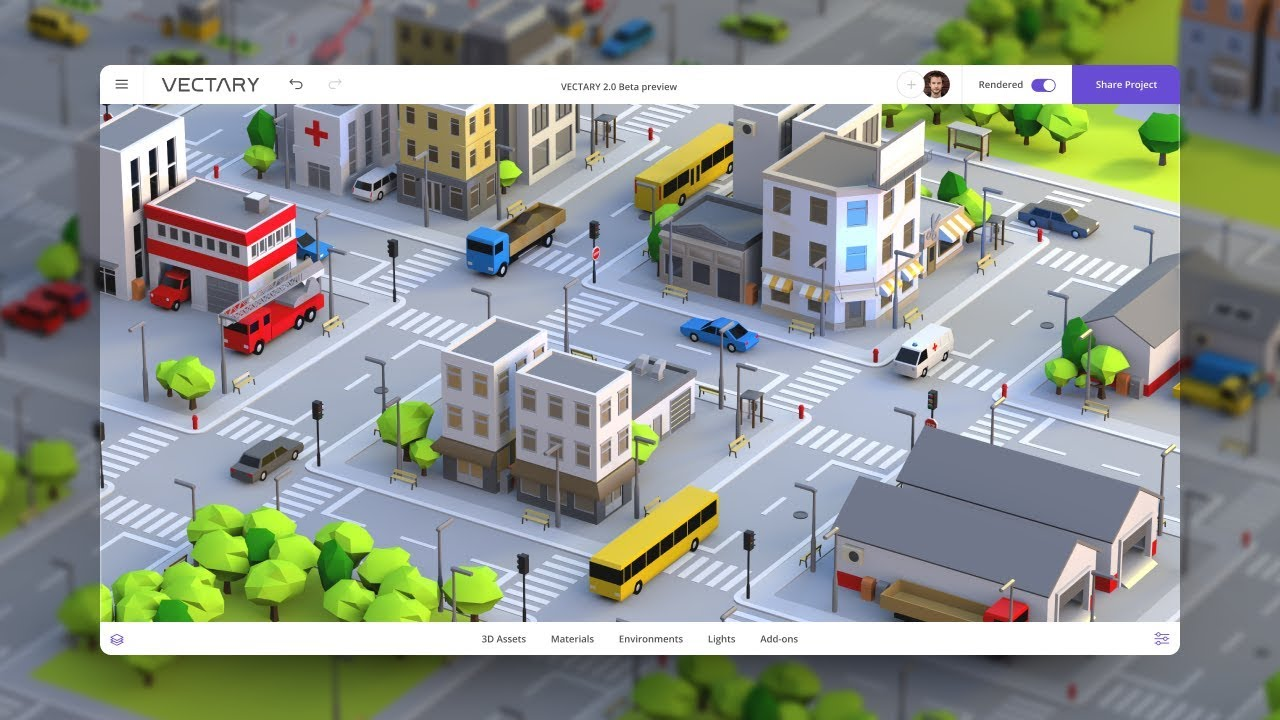 How to build a low poly city in 3D